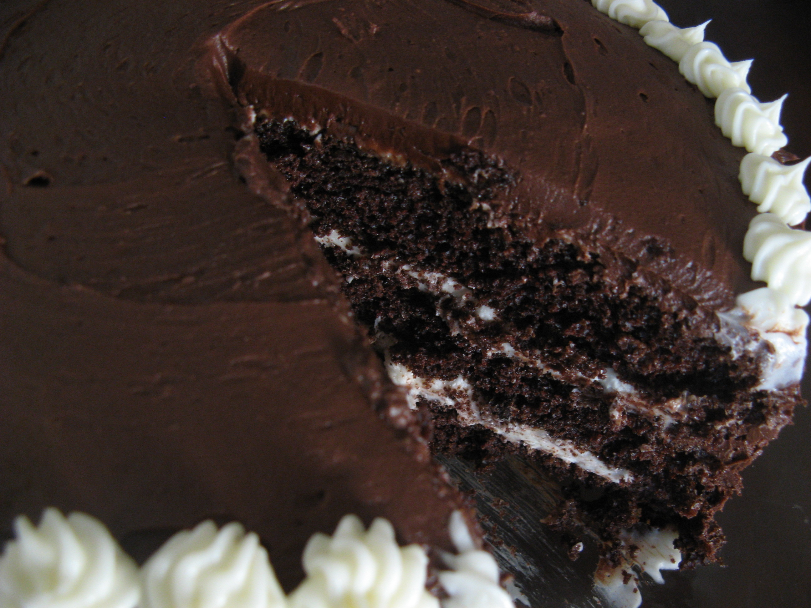 Recipe Chocolate Layer Cake With Cream Cheese Filling And